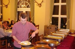 Curry buffet at Knowle Manor