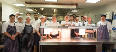 Award winning chefs and their teams in the kitchen of The Castle in Taunton