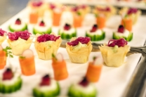 Canapés were prepared by hospitality students from West Somerset College, Minehead - Kira Crossfield, Lorraine Parfrey and Jaime Pope