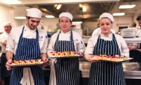 Jaime Pope, Lorain Parfrey, Kira Crossfield - hospitality students from West Somerset College were in charge of canapés