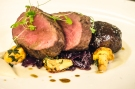Liam Finnegan's main course of Exmoor venison