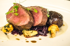 Liam Finnegan's main course of Exmoor venison