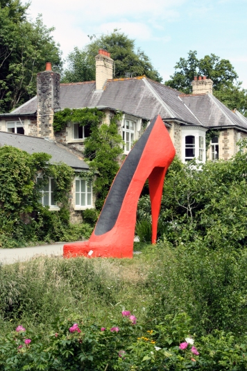 broomhill art hotel - red shoe by greta berlin