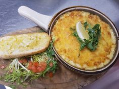 crab and cheese