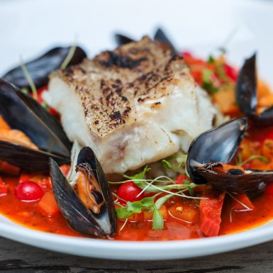 Cod mussels chorizo tomato 1