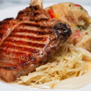 Pork chop cabbage biaritz potato 2
